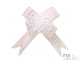 Pull Bows - Large WHITE butterfly -  unit of 10