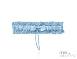 Blue Lace Garter with Bow