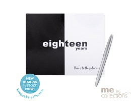 Eighteen Years Black and White Guest Book