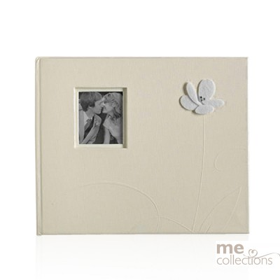 Guest Book with Embossed Flower