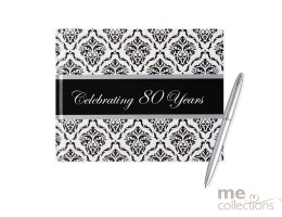 Celebrating 80 Years Damask Guest Book