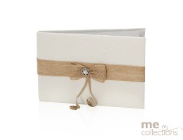 Wedding Guest Book Lace and Burlap Ribbon IVORY- 553