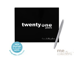 Twenty One Years Black Guest Book