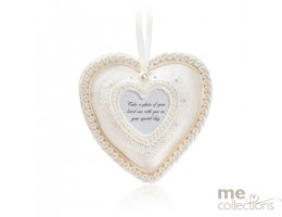 Heart Padded with Photo in Ivory- Model 418V