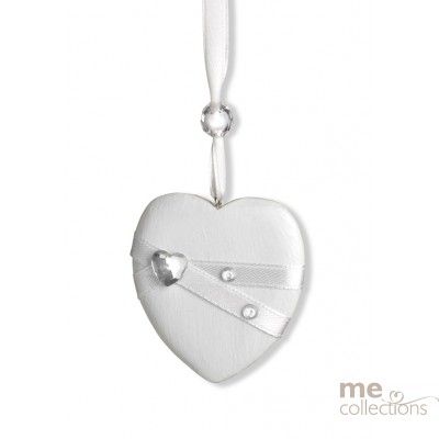 Heart - wood with diamantes and satin - Model 622