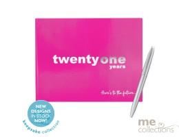Twenty One Years Pink Guest Book