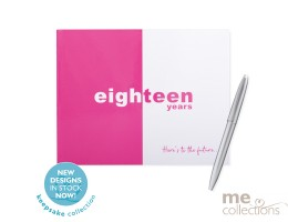 Eighteen Years Pink and White Guest Book