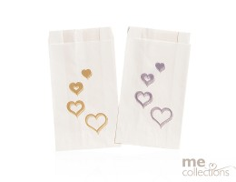 Cake Bags Hearts Multi Gold
