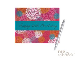 '40th Birthday' Hang Sell Guest Book - Pink/Orange