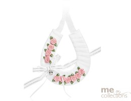 Designer Collection Horseshoe with Dusted Pink Flowers - Model 322