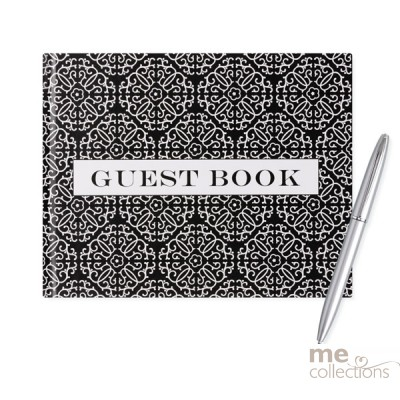 All Occasion Black and White Guest Book