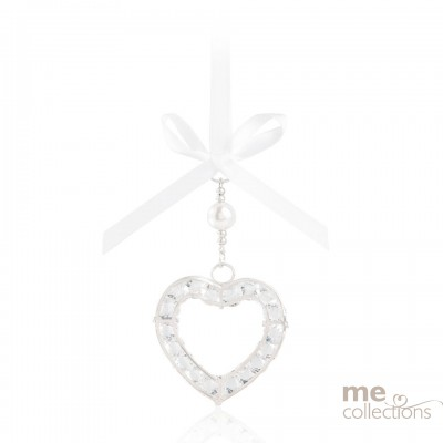 TEMPORARILY OUT OF STOCK- Crystal Heart in Silver- Model 076S