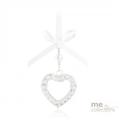 Crystal Heart in Silver- Model 076S
