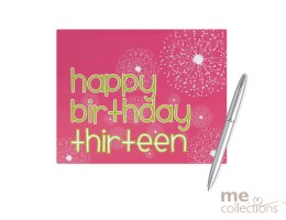 '13th Birthday' Hang Sell Guest Book - Pink Design