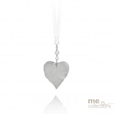 Leaf Heart in Silver