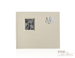 Guest Book with Embossed Flower in Ivory- Unit of 1