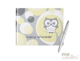 'Baby Shower' Hang Sell Guest Book - Owl