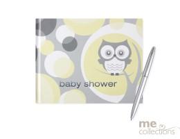 Baby Shower Owl Design Guest Book