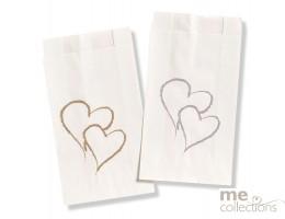 Cake bags BULK - Twin Heart GOLD
