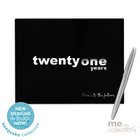 "'Twenty One Years"" Hang Sell Guest Book Black"