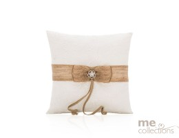 Ring Cushion with Burlap and Lace- 522