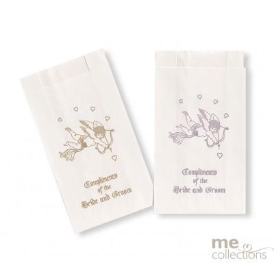 Cake Bags Bride and Groom Cupid Silver