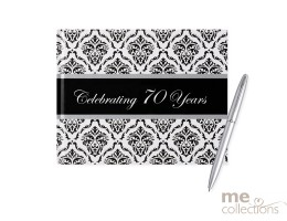 Celebrating 70 Years Damask Guest Book
