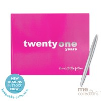'Twenty One Years' Hang Sell Guest Book Pink