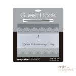 Your Christening Day Silver Foil Guest Book