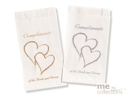 Cake bags BULK - Twin Heart compliments GOLD CB26