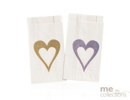 Cake Bags Heart Single Gold