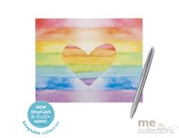 Rainbow Love Heart Hang Sell Guest Book