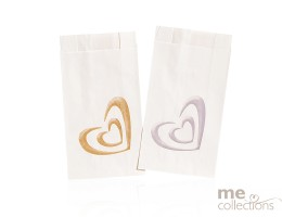 Cake Bags Gold Heart Shadow