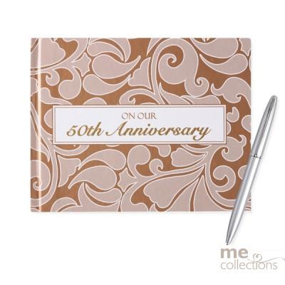 50th Anniversary Bronze Design Guest Book