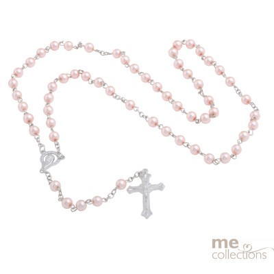 NEW Pink Pearls Rosary beads R001P