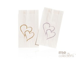 Cake bags - Twin Hearts GOLD