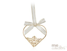 Heart Metal with Filigree Gold- Model 506