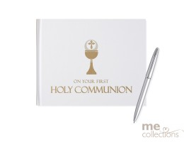 First Holy Communion White Guest Book
