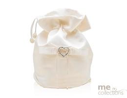 Bridal Bag with Heart design in IVORY- Model  542V