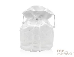 Bridal Bag with Pearl design in WHITE- Model 540W