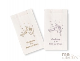 Cake bags - Bride and groom Cupid SILVER