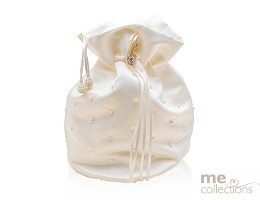 Ivory Bridal Bag with Pearl Design