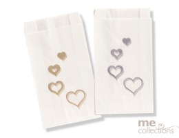 Cake bags BULK - Multi Heart GOLD