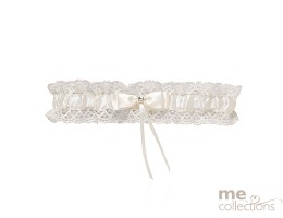 Ivory Lace Garter with Bow