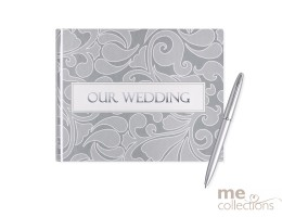 Our Wedding Silver Design Guest Book