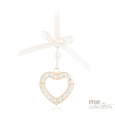Crystal Heart in Gold-Model 076G