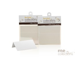 Place Cards - Metallic finish in white