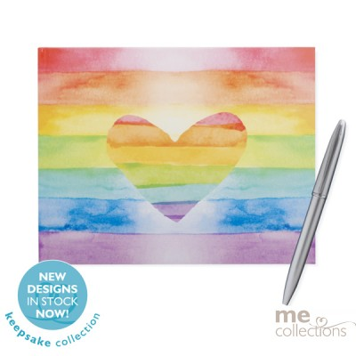 'Rainbow Heart' Hang Sell Guest Book